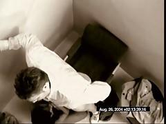 Secretary Blows & Swallows Her Boss's Load On Hidden Cam