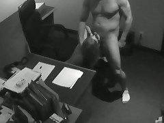Hidden Cam Catches After Hours Suckjob