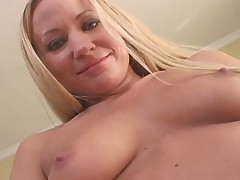 Totally Blond Slut Sucks A Big Chocolate Dick
