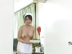 Chinese slut gets her holes filled