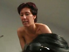 Pink panty beauty gets caught masterbating at work by fe