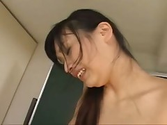 Japanese girls play in school