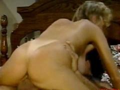 Innocent blonde sucks two dicks in a raw
