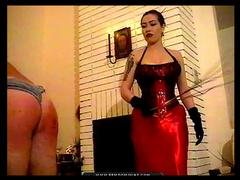 Asian mistress mercilessly beats his ass