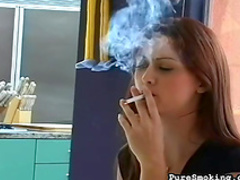 Sexy one is smoking a nice cigarette