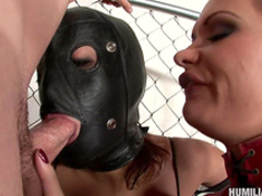 Sensual blonde gets her face creamed with jizz