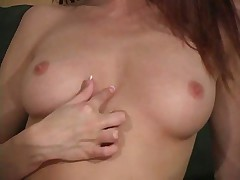 Redhead pantyhose tease