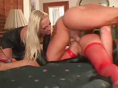 Kinky Blonde threesome
