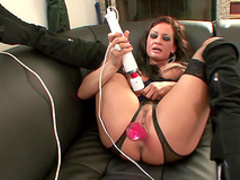Milf masturbates her hungry holes with toys