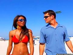 Beach tits beauty gets boned