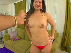 Cute curvy Latina pounded