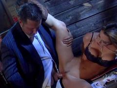 Pornstar Kayla Paige makes a gorgeous professional blowjob