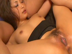 Tied babe Aoi Miyama gets couple of vibrators in her pussy