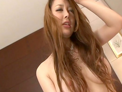 Nasty babe Mai Uzuki is making a blowjob with pleasure