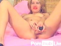 LiveAngella from Pornhublive Uses Toy On Her Pussy Wearing Only Heels