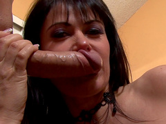 Eva shows off her professional dick-sucking skills