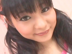 Sweet Asian beauty Rin Mizusaki is playing with her puss