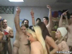 Naked college students fool around