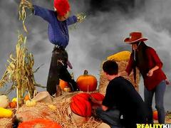 Funny Halloween hardcore celebration