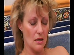 Horny Mommy gets fucked in spa