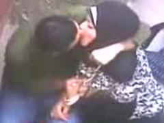 Playful Arab girl gives handjob