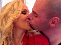 Julia Ann is riding and screaming from pleasure