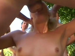 Breathtaking blonde performs a deepthroat and has anal sex