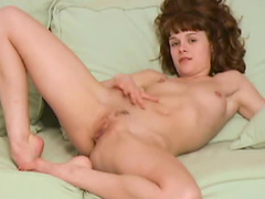 Curly hair solo girl is hot
