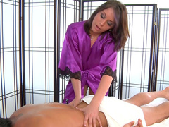 Tommy Gunn fucks masseuse Amiee Cambridge