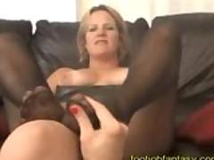 Foot fetish rubbing pantyhose lesbians