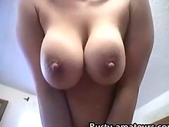 Gabriella striptease and blowjob