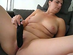 Big dildo deep in her sexy pussy
