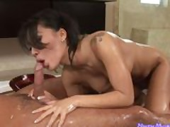 Asa Akira first ANAL scene only @ Nuru Massage