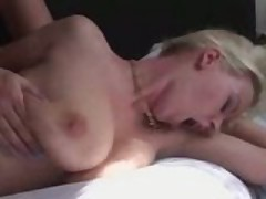 Hot blonde with big breast fucks lucky guy