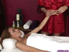 Lesbians in hot 69 position during a massage