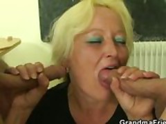 Fat Granny Teacher Fucked All Over The Class