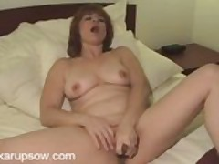 Older Redhead Calliste Toying Her Big Pussy