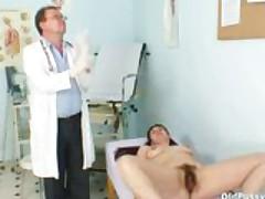 Bushy Pussy Wife Karin Real Gyno Clinic Exam