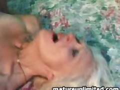 Mature gets messy all over...