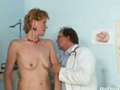 Dirty old lady Mila needs gyno clinic examination