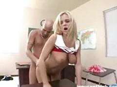 Blonde Cheerleader Bree Olson Rammed Hard By Her Professor
