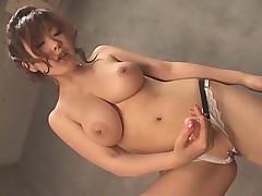 Big tits asian with strapon fucks a sissy man