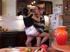 Brunette Getting Fucked In The Kitchen