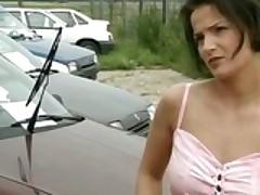 Girl Fucked On A Car