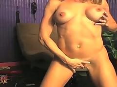Brandi Love Leather Masturbation