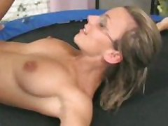 Nasty Whore Banged On The Trampoline