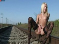 Masturbating On The Railway