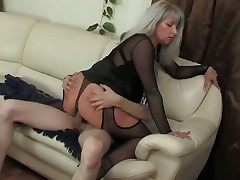 Mature masturbates and must have his young cock