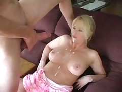 Sexy mature action in kitchen