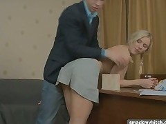 Pigtailed cutie fucked by dude